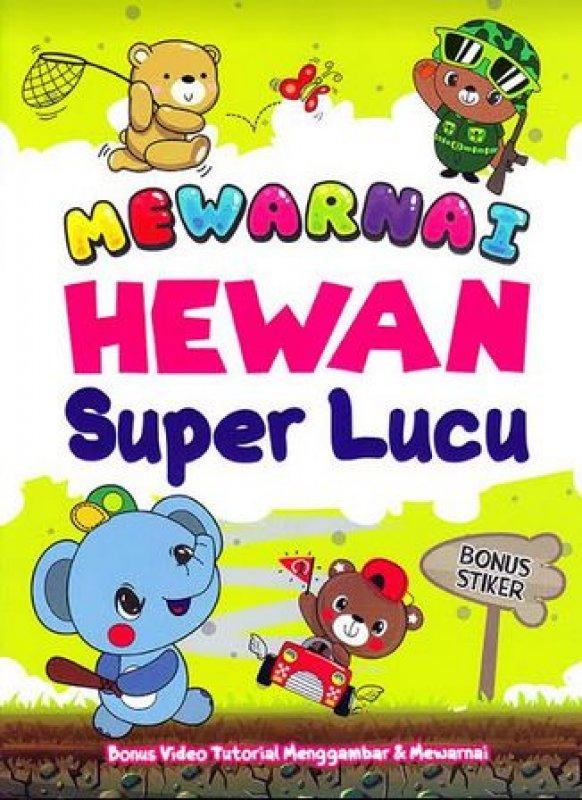 Cover Buku Mewarnai Hewan Super Lucu