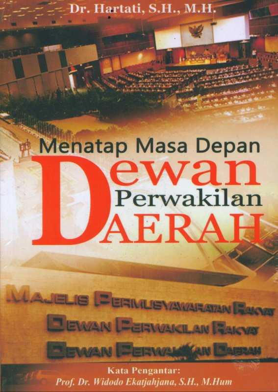 Cover Buku Menatap Masa Depan Dewan Perwakilan Daerah