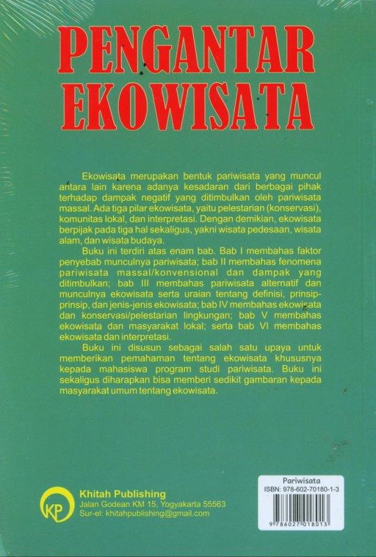 Cover Belakang Buku Pengantar Ekowisata