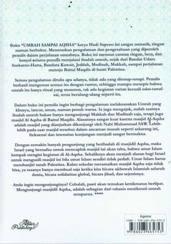 Cover Belakang Buku Umrah Sampai Aqsha Edisi Revisi