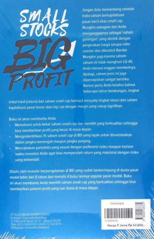 Cover Belakang Buku Small Stocks Big Profit