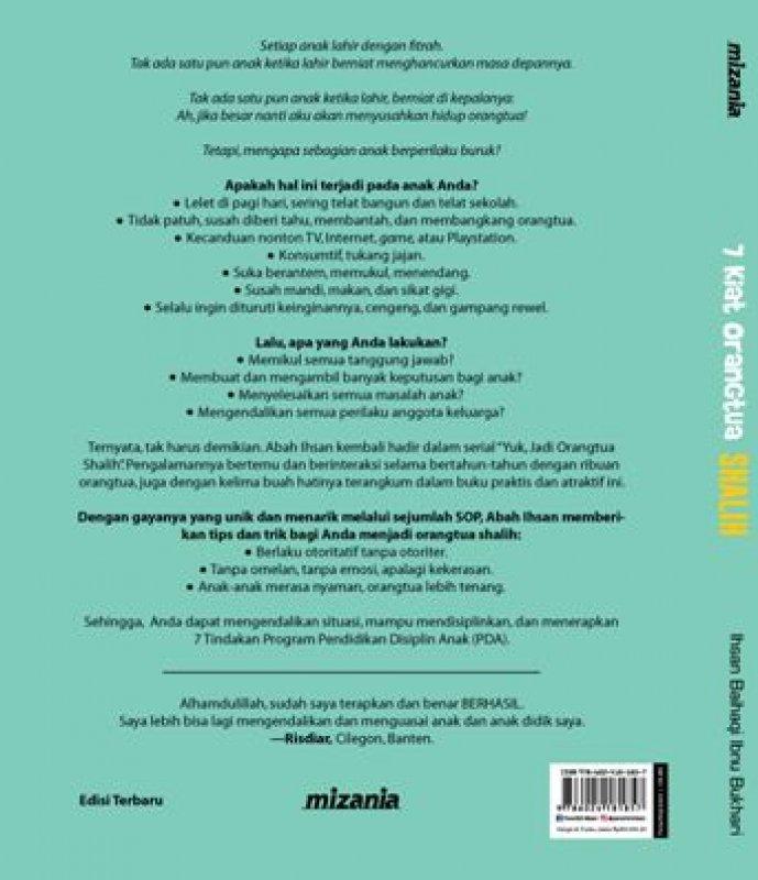 Cover Belakang Buku 7 Kiat Orangtua Shalih (Republish)