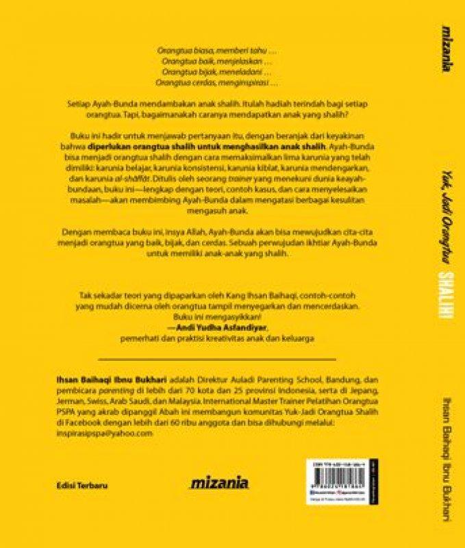 Cover Belakang Buku Yuk, Jadi Orangtua Shalih! (Republish)