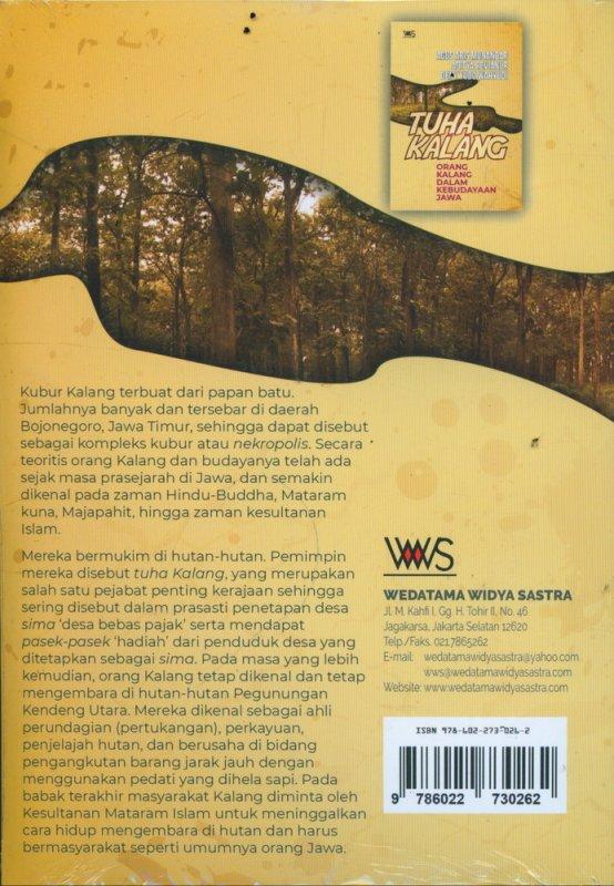 Cover Belakang Buku TUHA KALANG: Orang Kalang Dalam Kebudayaan Jawa