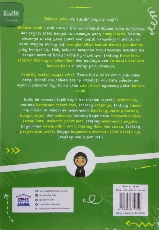 Cover Belakang Buku The Amazing Book of ARABIC CONVERSATION for Millenialas