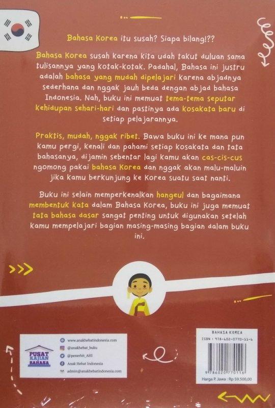 Cover Belakang Buku The Amazing Book of Korean Grammar For Millenials