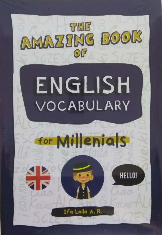 Cover Buku The Amazing Book of English Vocabulary for Millenials