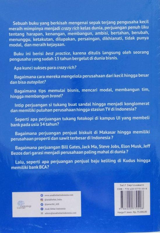 Cover Belakang Buku Mau Jadi Pengusaha? Jangan Cengeng (Kisah-kisah gokil)