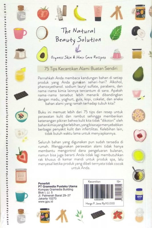 Cover Belakang Buku The Natural Beauty Solution