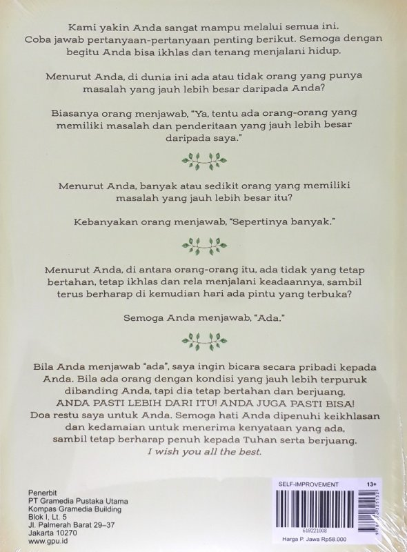 Cover Belakang Buku Pemulihan Jiwa 7 (Cover Baru)