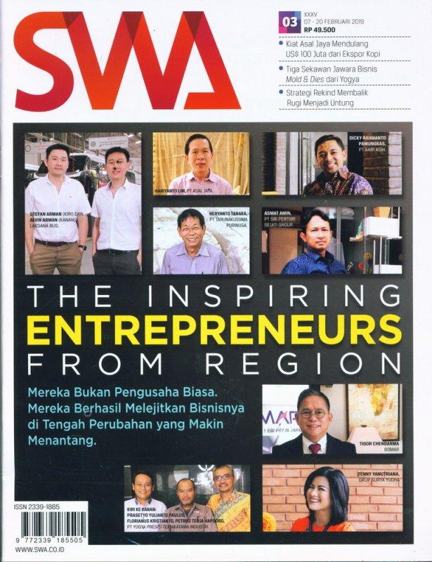 Cover Buku Majalah SWA Sembada No. 03 | 7-20 Februari 2019