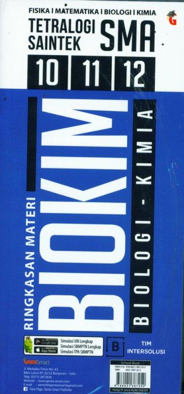 Cover Buku Tetralogi Saintek Ringkasan Materi FISMAT BLOKIM SMA 10 11 12
