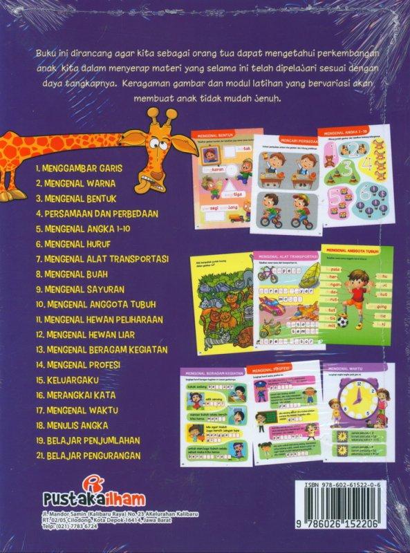 Cover Belakang Buku Games Book Cerdas & Kreatif Untuk TK