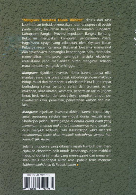 Cover Belakang Buku Mangrove Investasi Dunia Akhirat