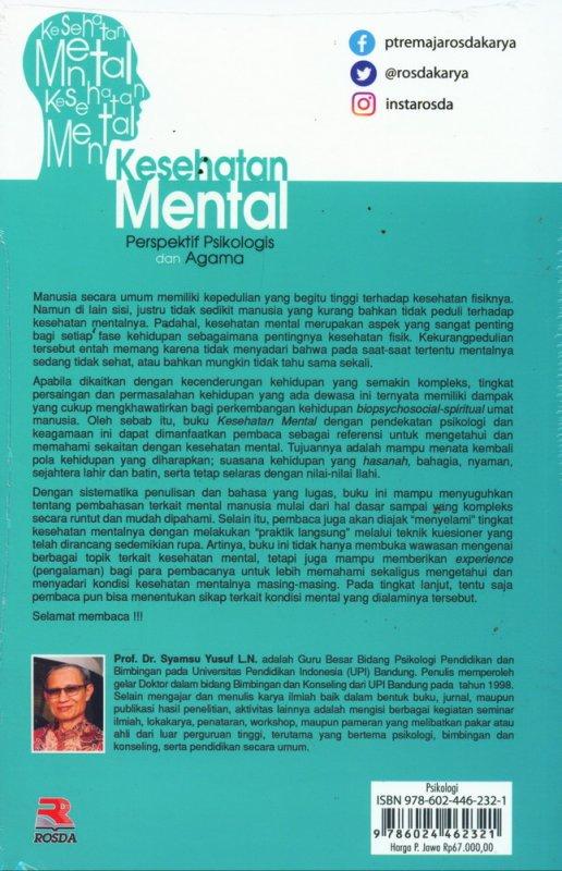 Cover Belakang Buku Kesehatan Mental Perspektif Psikologis dan Agama