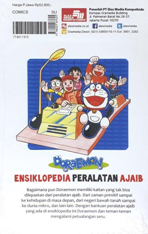 Cover Belakang Buku Doraemon Ensiklopedia Peralatan Ajaib