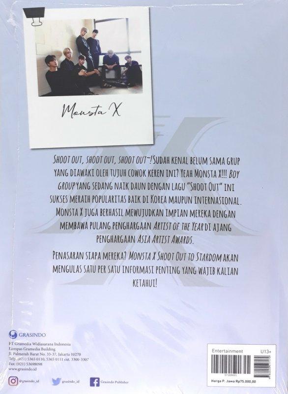 Cover Belakang Buku Monsta X : Shoot Out to Stardom