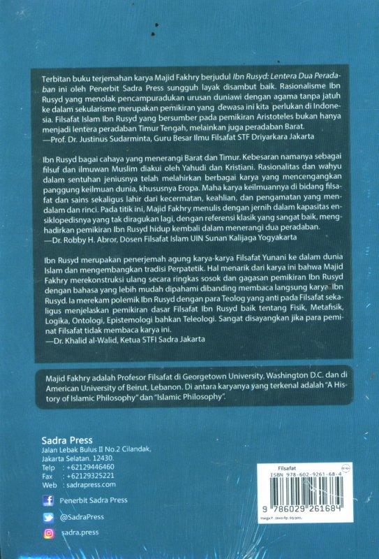 Cover Belakang Buku Ibn Rusyd: Lentera Dua Peradaban