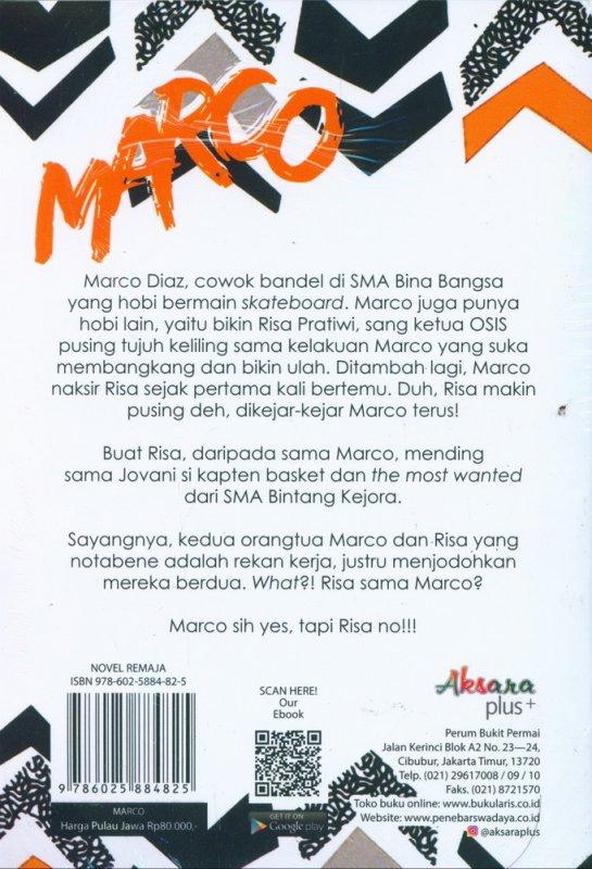 Cover Belakang Buku The Most Annoying Boy Marco