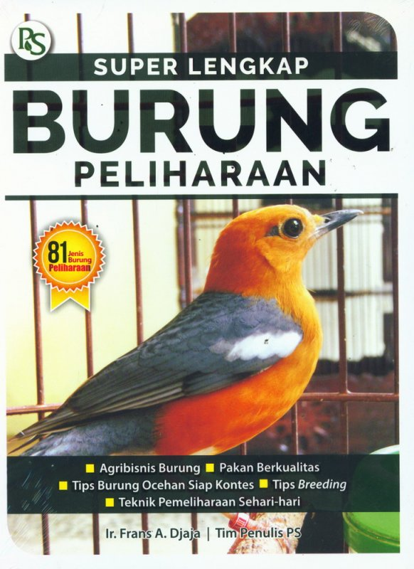 Cover Buku Super Lengkap Burung Peliharaan