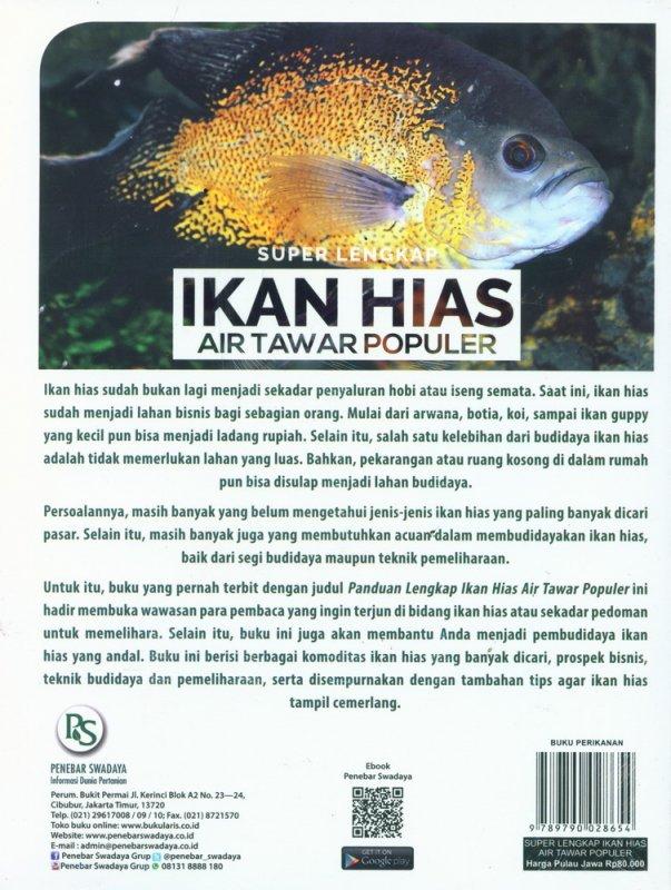 Cover Belakang Buku Super Lengkap Ikan Hias Air Tawar Populer