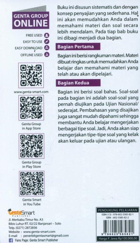 Cover Belakang Buku POCKET SHORTCUT M-IPA SMP KELAS 7,8, & 9