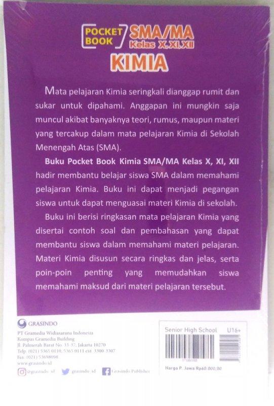 Cover Belakang Buku Pocket Book SMA / MA Kimia