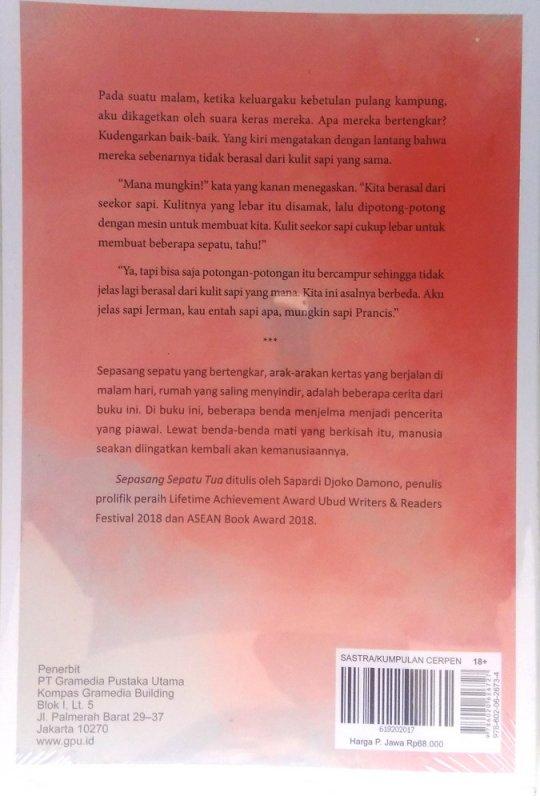 Cover Belakang Buku Sepasang Sepatu Tua (sepilihan cerpen)