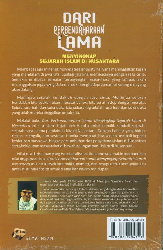 Cover Belakang Buku Dari Perbendaharaan Lama Menyingkap Sejarah Islam di Nusantara