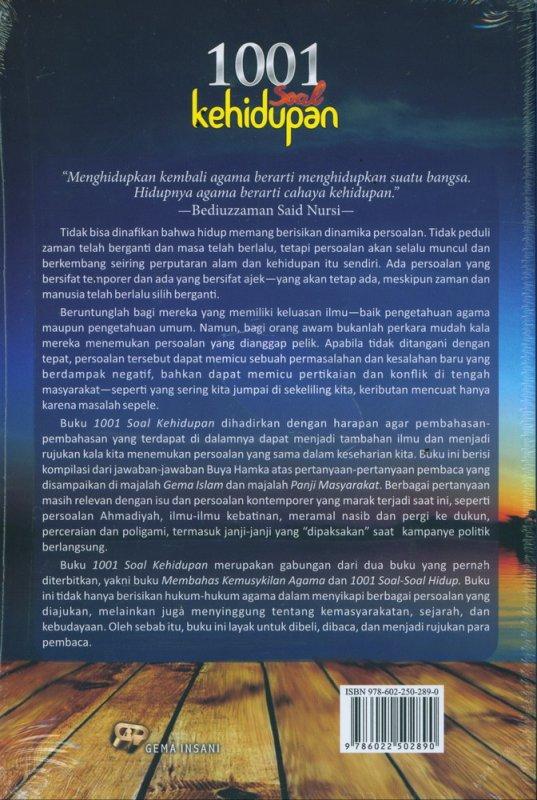 Cover Belakang Buku 1001 Soal Kehidupan
