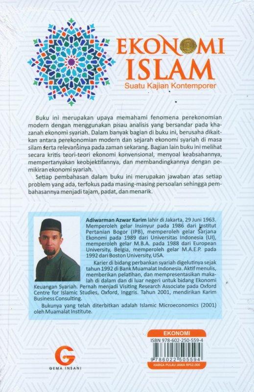 Cover Belakang Buku Ekonomi Islam Suatu Kajian Kontemporer