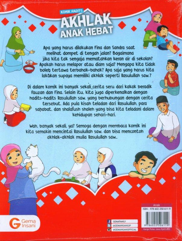 Cover Belakang Buku Komik Hadits Akhlak Anak Hebat