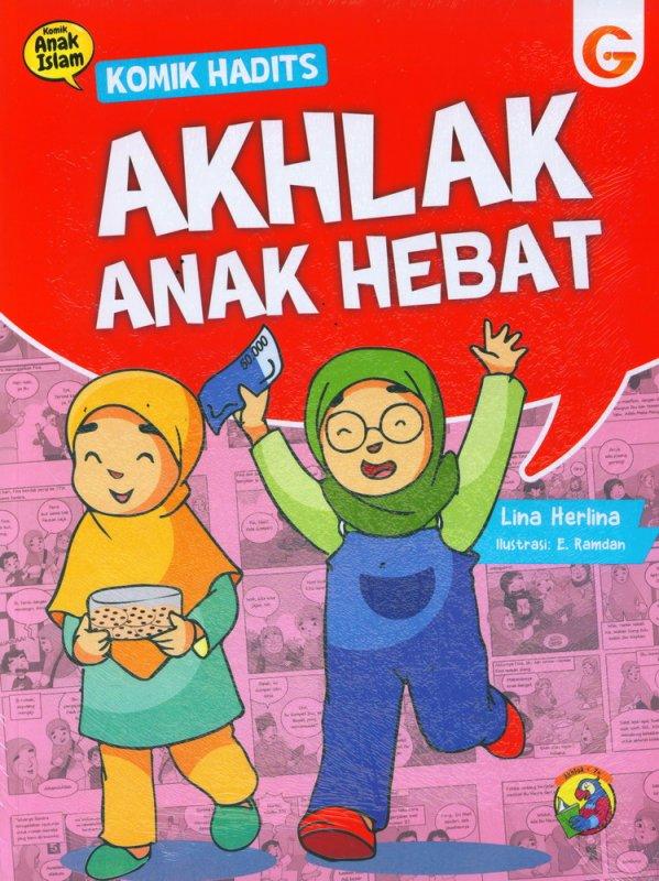 Cover Buku Komik Hadits Akhlak Anak Hebat