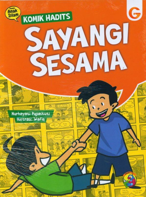 Cover Buku Komik Hadits Sayangi Sesama
