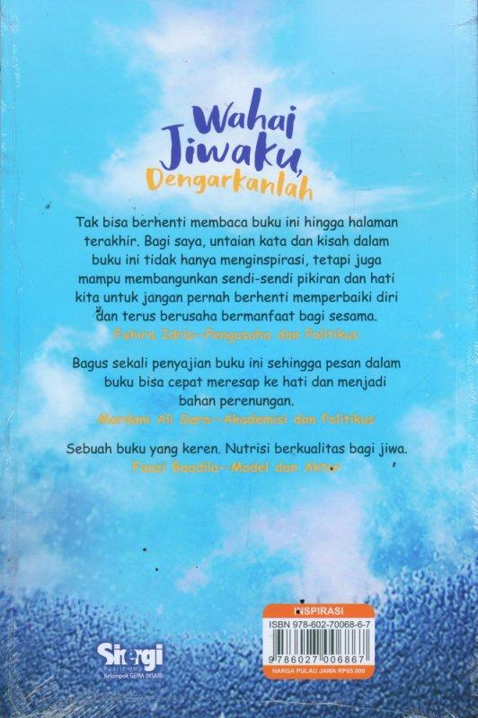 Cover Belakang Buku Wahai Jiwaku Dengarkanlah