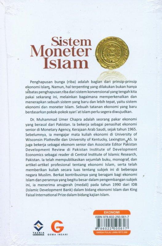 Cover Belakang Buku Sistem Moneter Islam