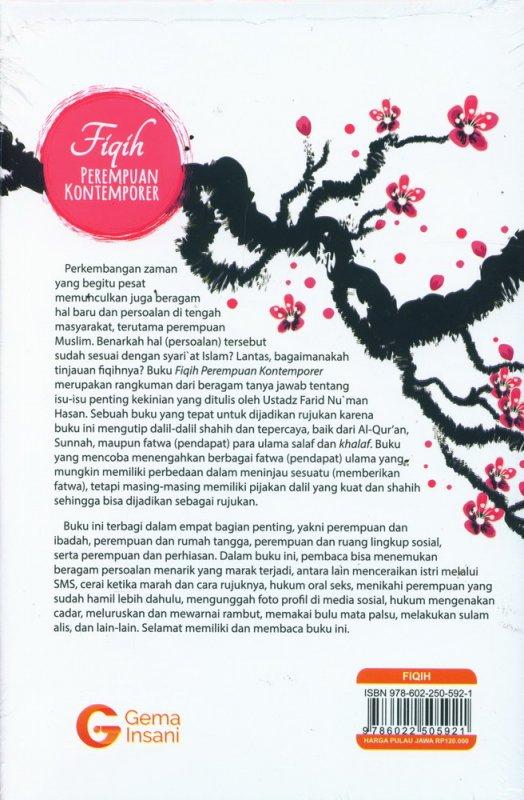 Cover Belakang Buku Fiqih Perempuan Kontemporer (Hard Cover)