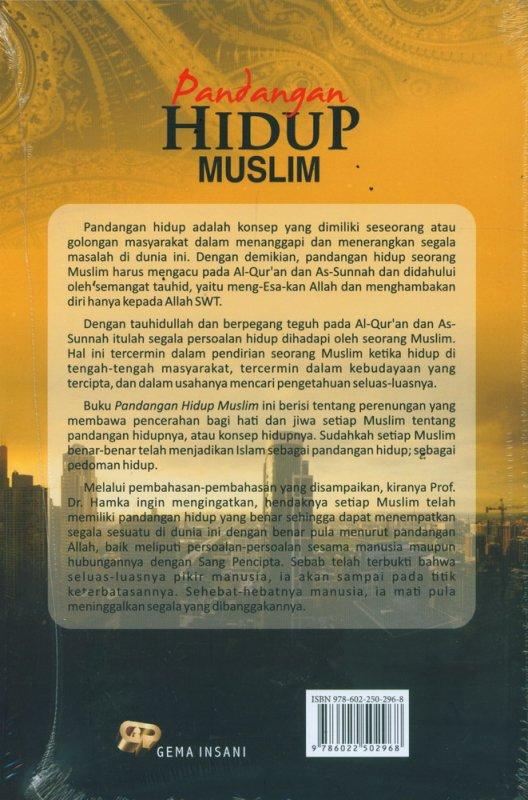 Cover Belakang Buku Pandangan Hidup Muslim
