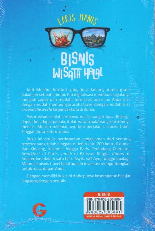 Cover Belakang Buku Laris Manis Bisnis Wisata Halal