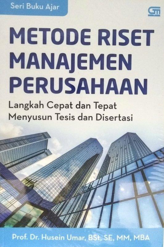 Cover Buku Metode Riset Manajemen Perusahaan