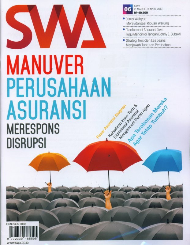 Cover Buku Majalah SWA Sembada No. 06 | 21 Maret - 31 April 2019