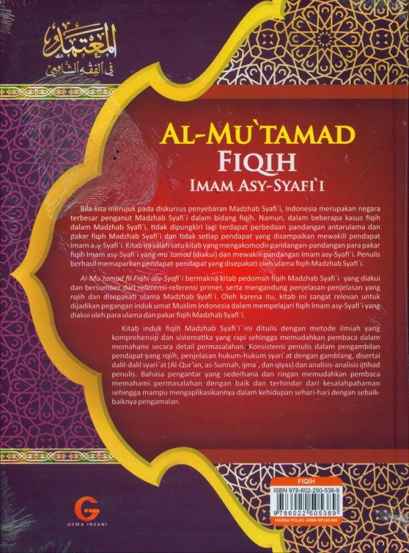 Cover Belakang Buku AL-MU'TAMAD FIQIH IMAM ASY-SYAFII (Zakat-Puasa-Haji-Ubudiyyah) Jilid 2 (Hard Cover)
