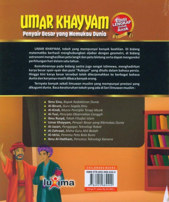 Cover Belakang Buku UMAR KHAYYAM - Penyair Besar yang Memukau Dunia