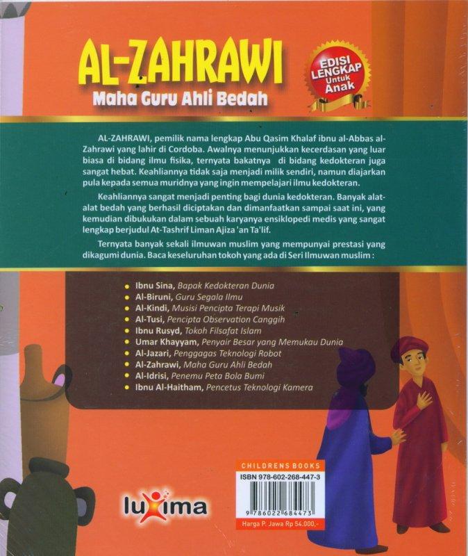 Cover Belakang Buku AL-ZAHRAWI - Maha Guru Ahli Bedah (Bilingual Indonesia-Inggris)