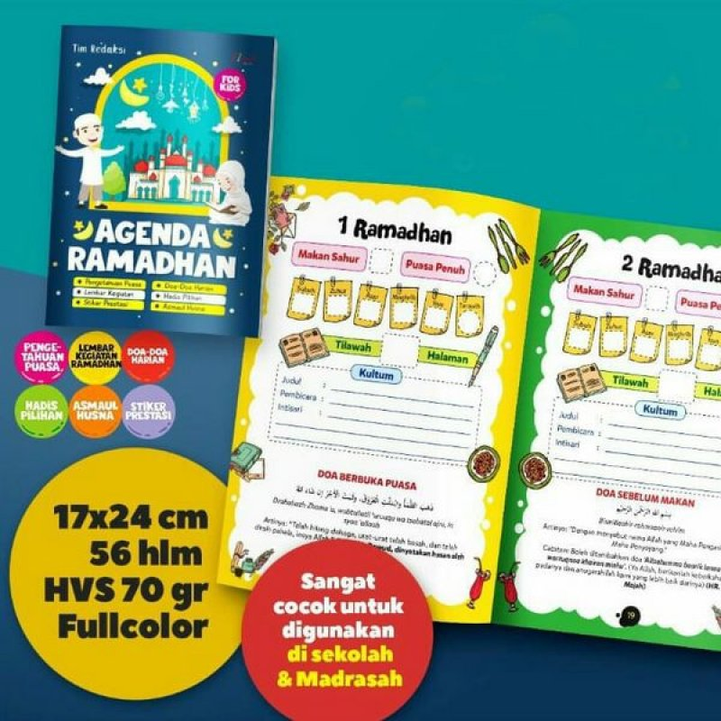 Cover Buku Agenda Ramadhan For Kids