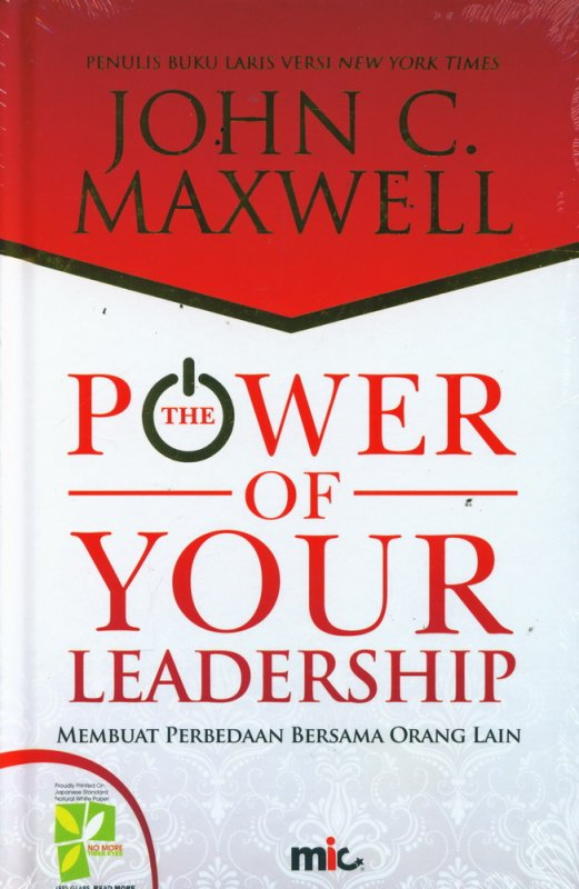 Cover Buku The Power of Your Leadership (Hard Cover)