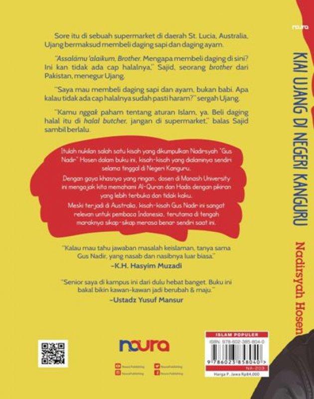 Cover Belakang Buku Kiai Ujang di Negeri Kanguru