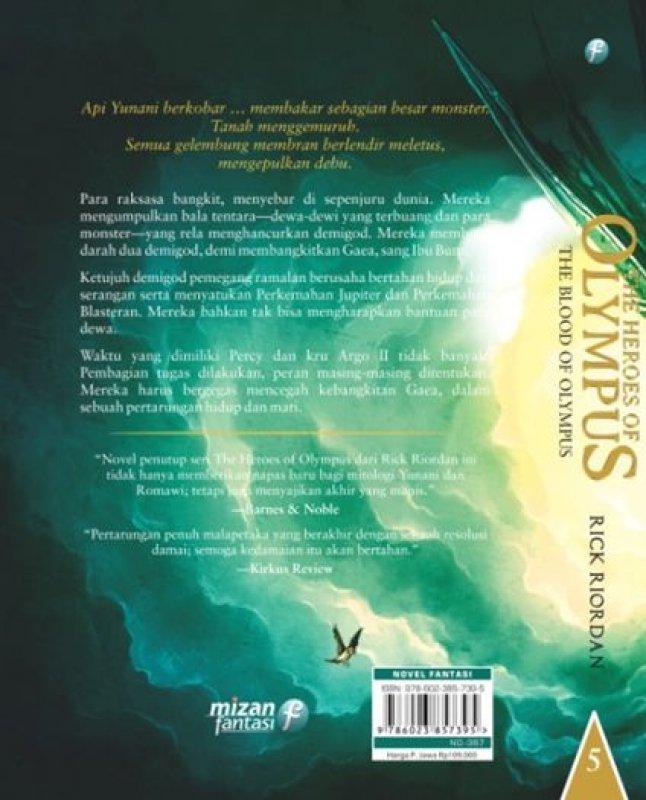 Cover Belakang Buku The Heroes of Olympus #5, The Blood of Olympus