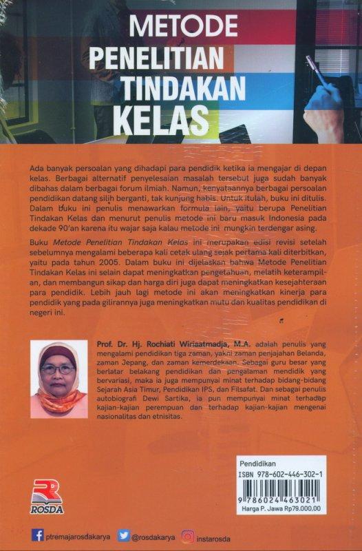Cover Belakang Buku Metode Penelitian Tindakan Kelas (Edisi Revisi)