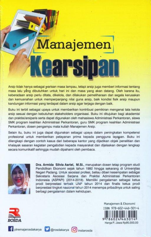 Cover Belakang Buku Manajemen Kearsipan